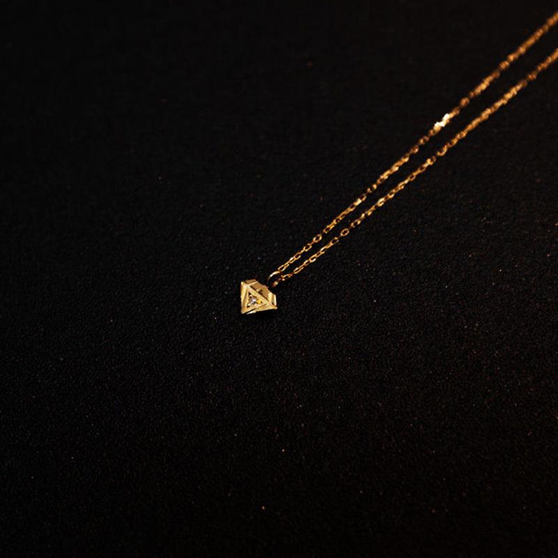 ゴールドネックレス ダイヤ型 K18 ダイヤ