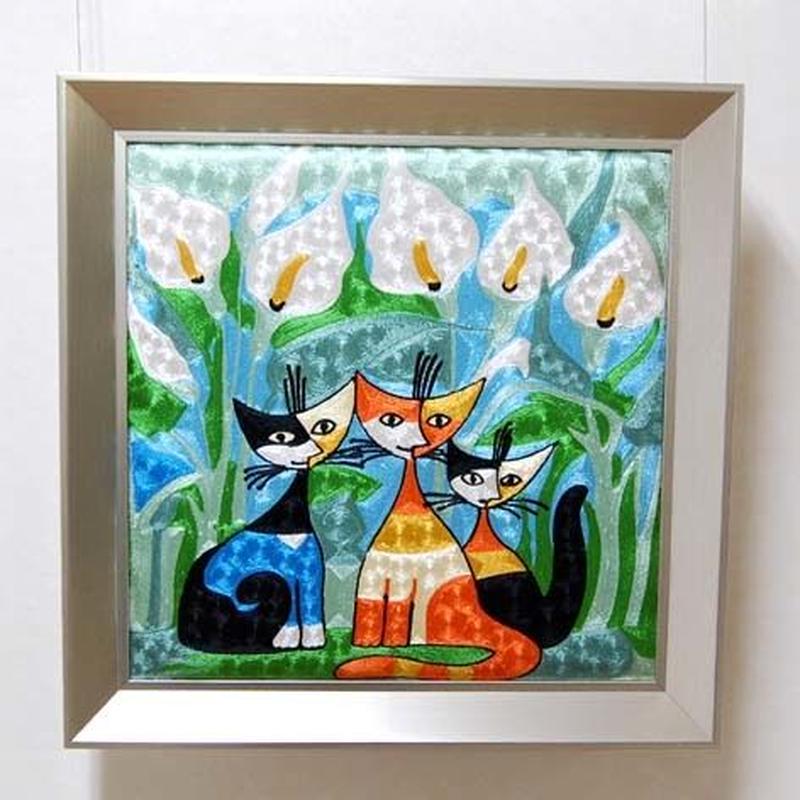 刺繍絵画(53.5×53.5) ロジーナ「カラーと仲間」 商品番号:is1087-rw-01