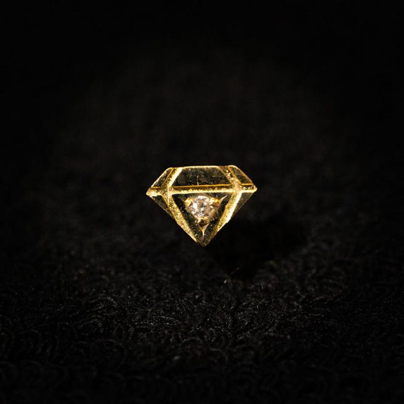 ゴールドピアス ダイヤ型 K18 ダイヤ