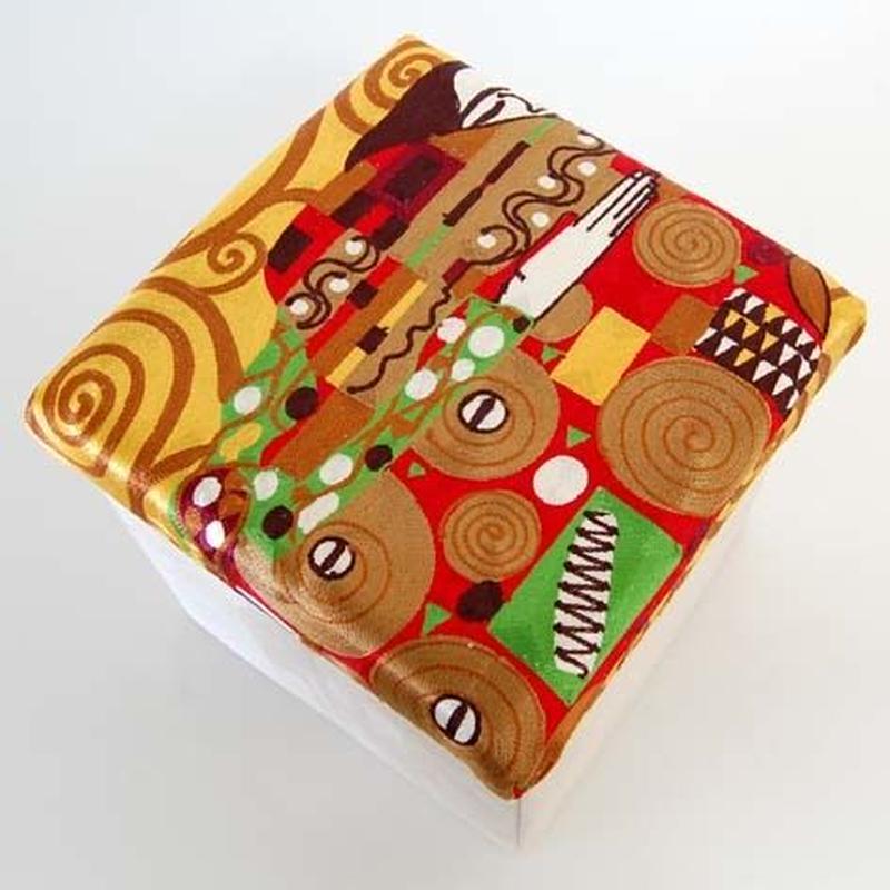 刺繍スツール(30×30×30) クリムト 商品番号:is1087-rs-97