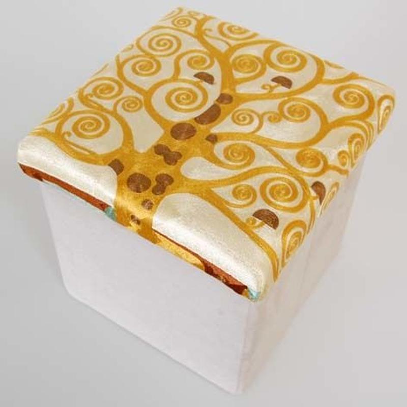 刺繍スツール(30×30×30) クリムト 商品番号:is1087-rs-100