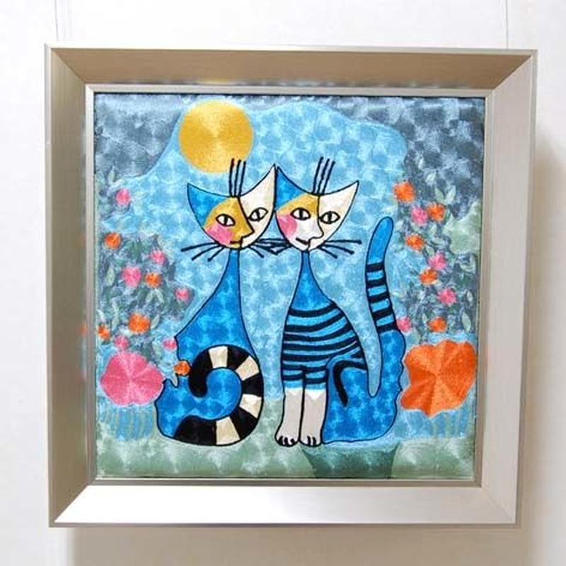 刺繍絵画(53.5×53.5) ロジーナ「ロマンス」 商品番号:is1087-rw-42