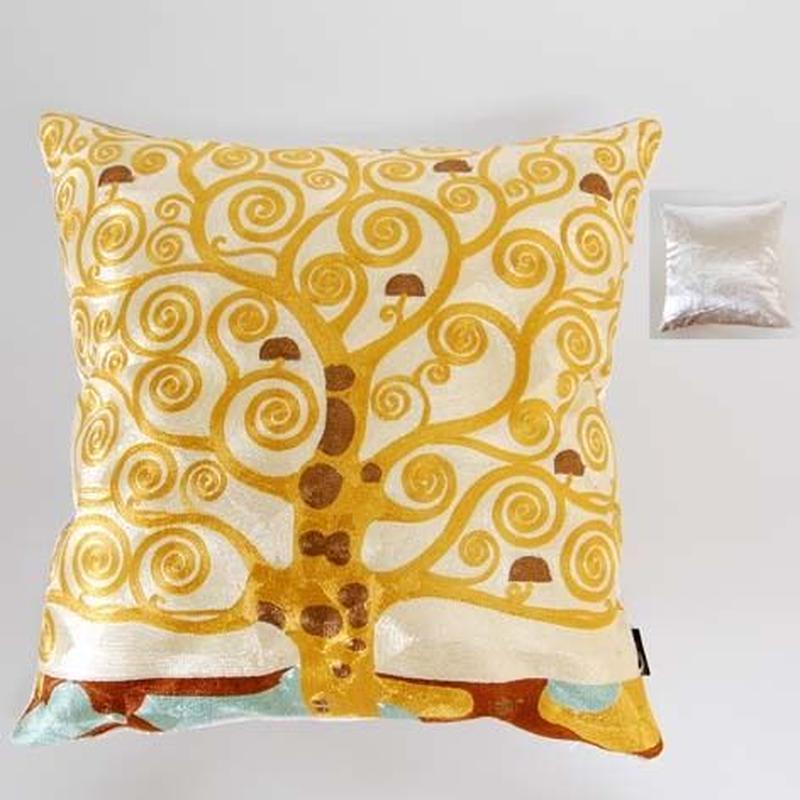刺繍クッション(45×45) クリムト 商品番号:is1087-rc-100