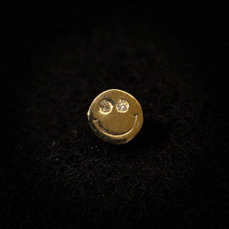 ゴールドピアス スマイル K18 ダイヤ