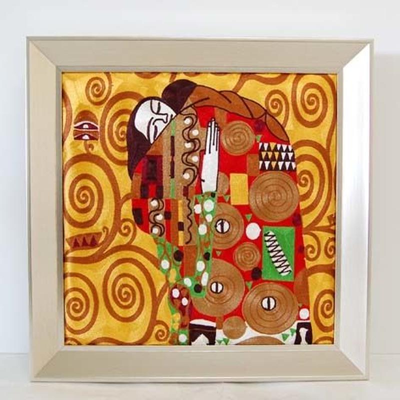 刺繍絵画(53.5×53.5) クリムト 商品番号:is1087-rw-97