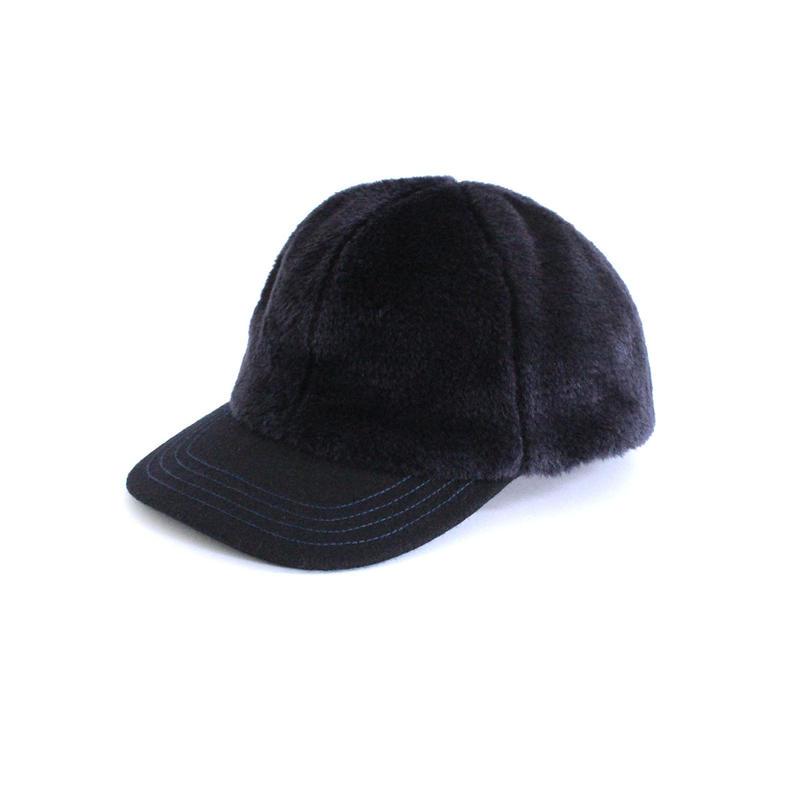 Blue Fake Fur Cap