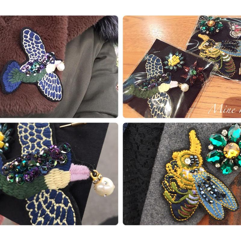 beads bijou 3set  Ping  magnet  brooch
