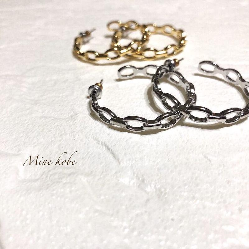 【silver925】chain hoop pierce
