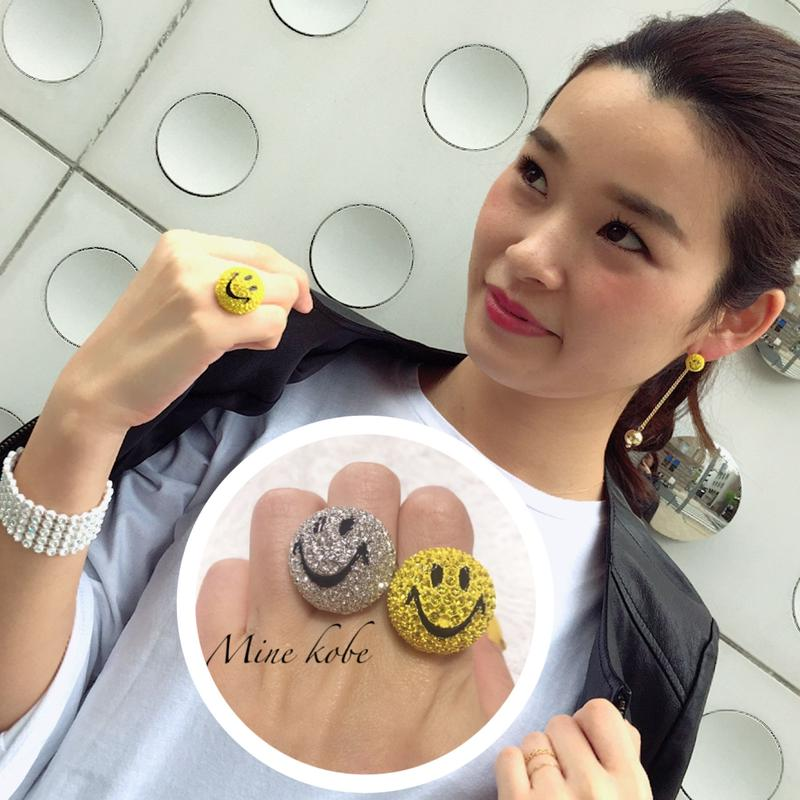 bijou kirakira smiley ring