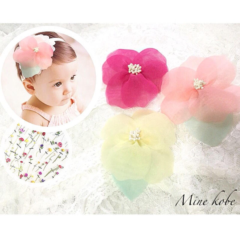 big flower baby lace hair band