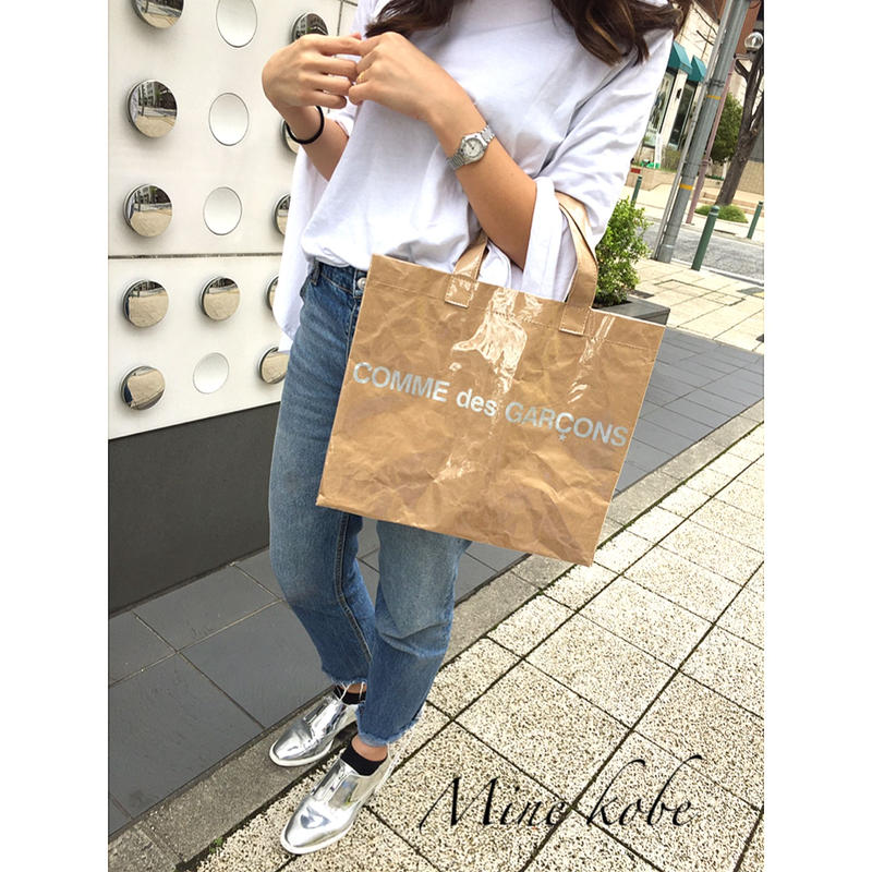 papercraft vinyl tote bag