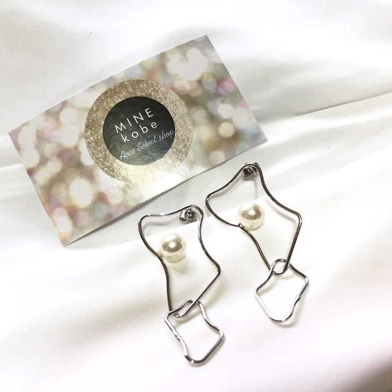 metal motif one pearl pierce