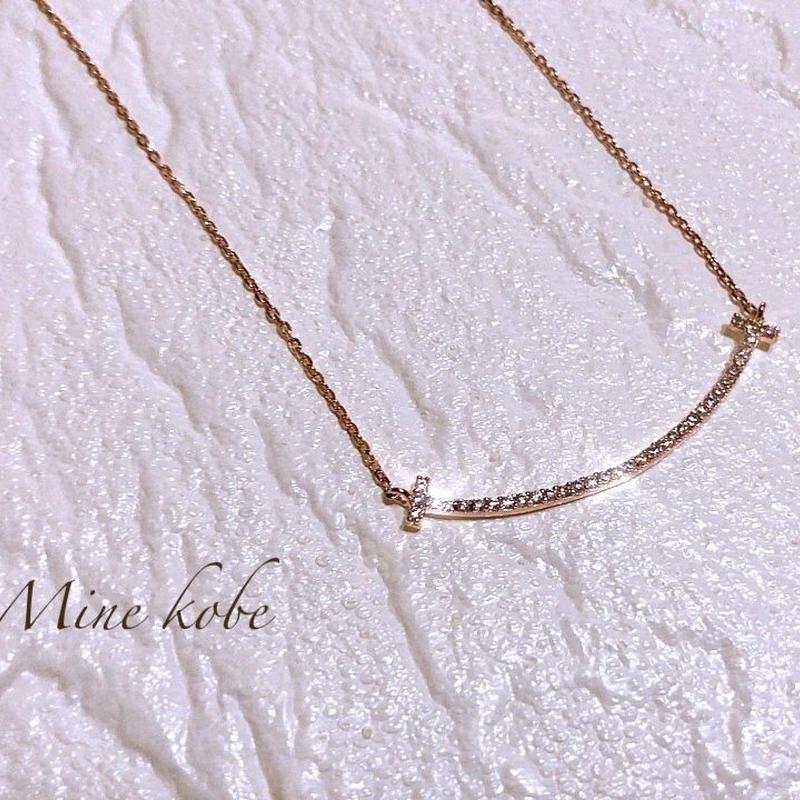 【silver925】smile T bijou necklace