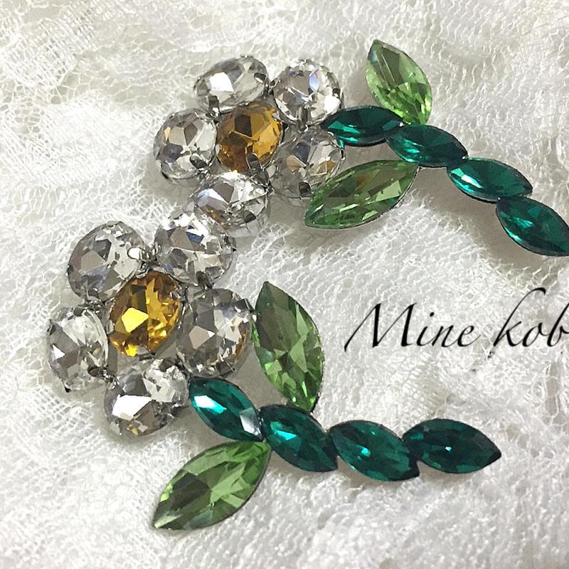 flower motif bijou pierce