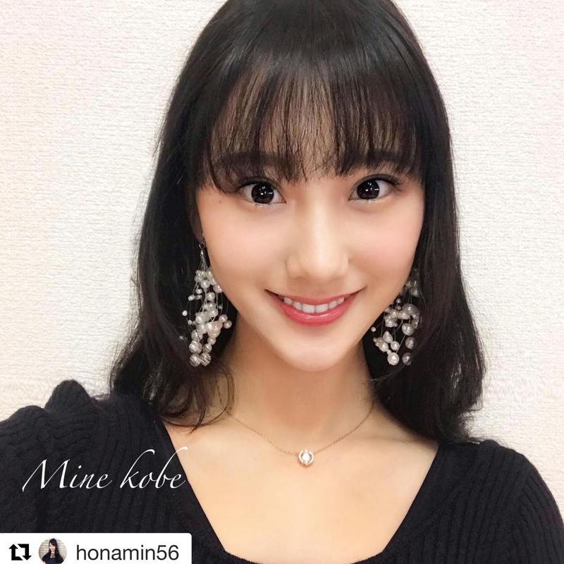 bubble pearl pierce earring
