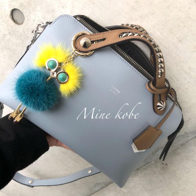 mink fur doll key charm