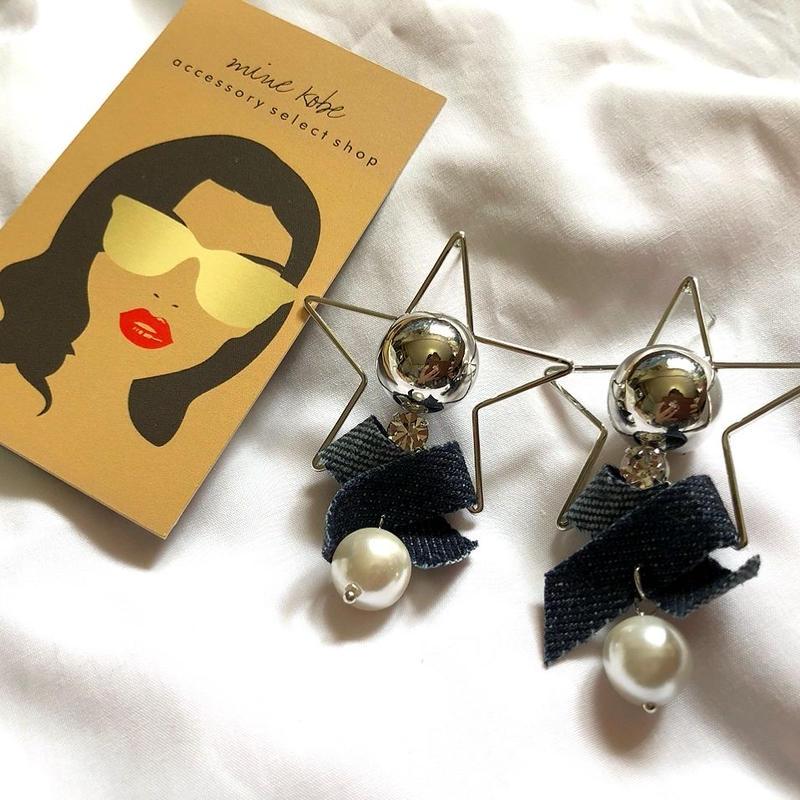 STAR denim  pearl pierce