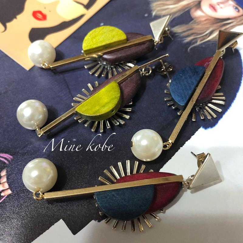 wood pearl metal pierce