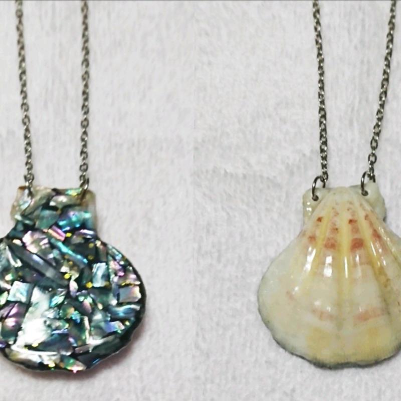 螺鈿細工風◆貝殻のネックレス