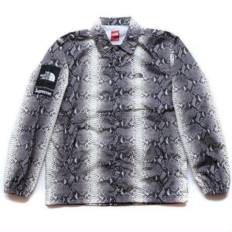 2018SS 国内正規品 Supreme × The North Face Snakeskin Taped Seam Coaches Jacket Black