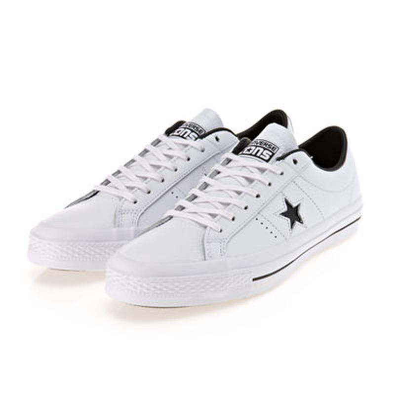 CONS ONE STAR LEATHER WHITE/BLACK 153713C