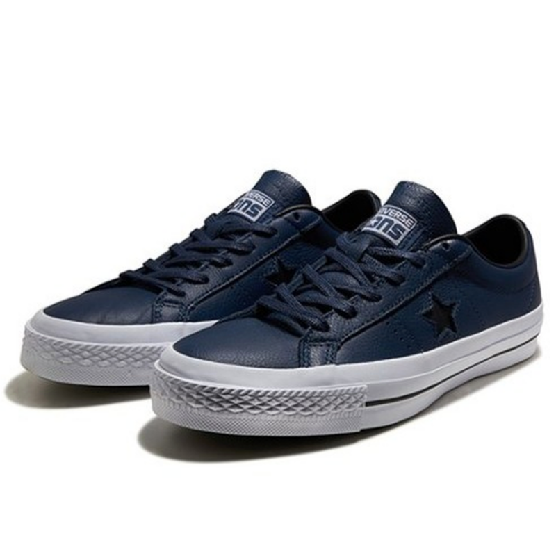 One Star Leather - Navy 153716C