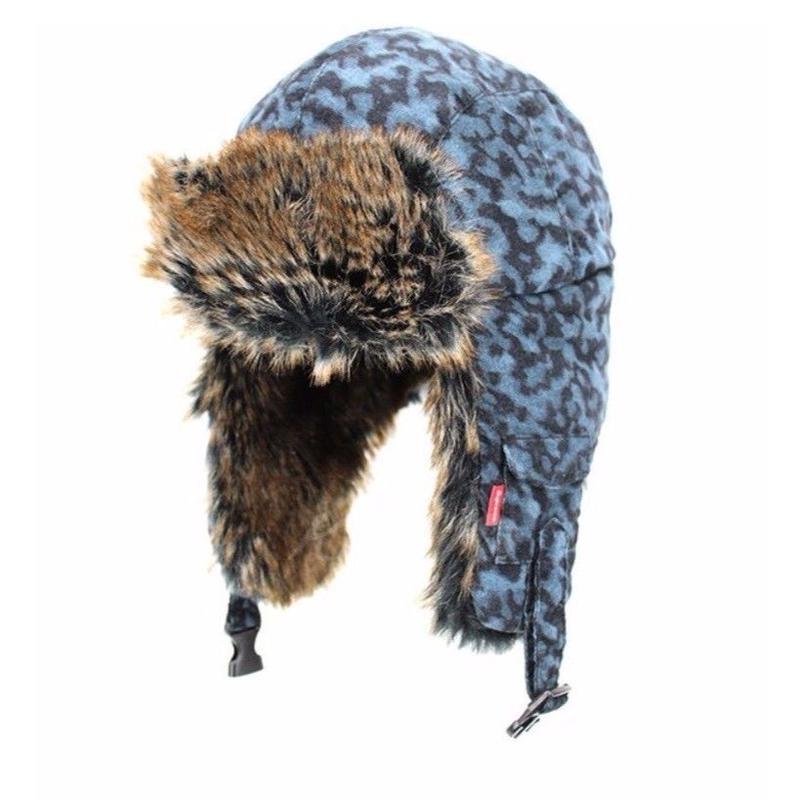 [SUPREME] 2014AW Liberty Leopard Trooper Hat