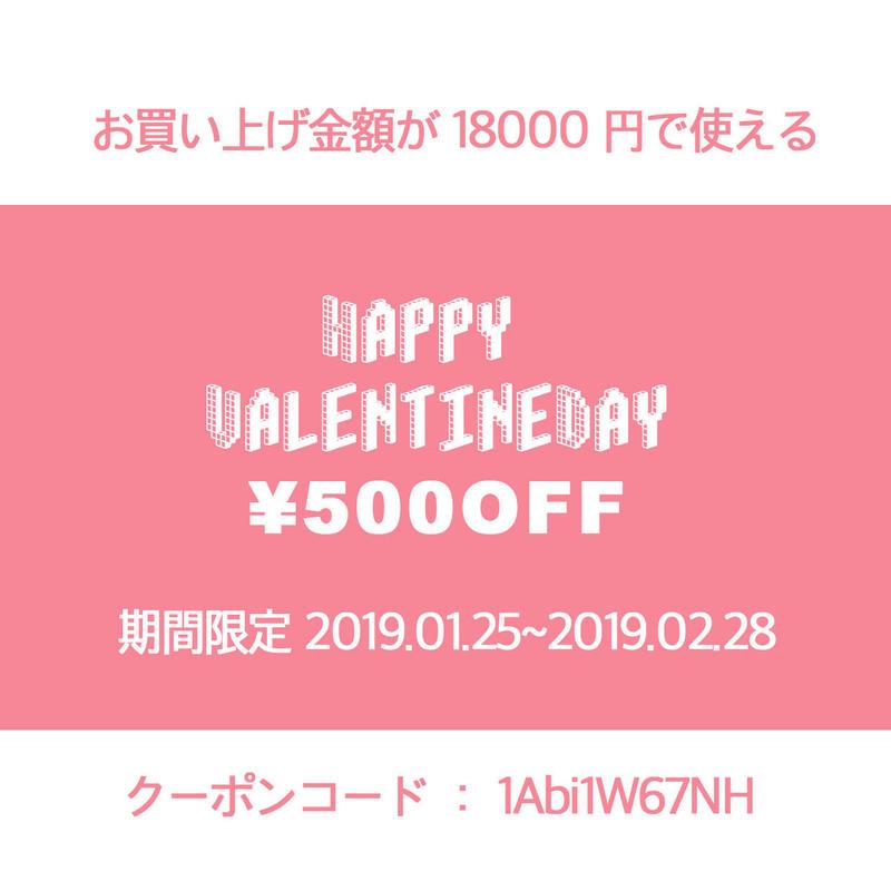 【告知】HAPPY VALENTINE DAY クーポン¥500,¥700,¥1,000