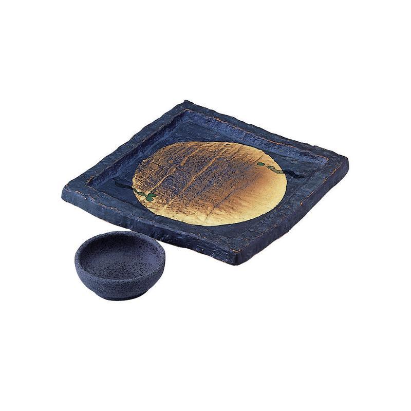 炭化土 お刺身皿セット 98-495-06と07