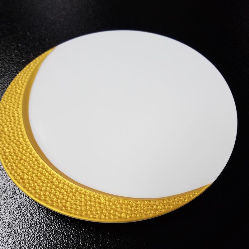白磁 三日月形金縁20㎝デザート皿