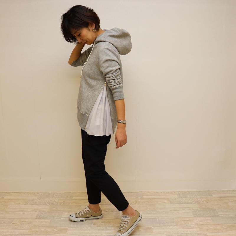 【 Aima+saie | アイマサイエ 】 サイドジップパーカー | color:グレー  |  493913