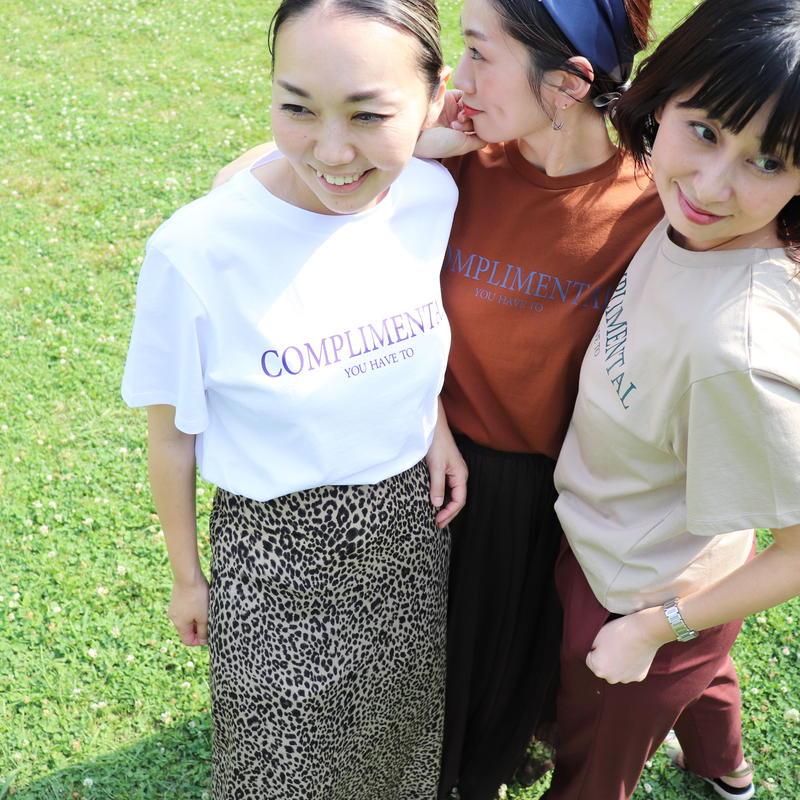 "【 ENBLANC | エンブラン  】 オリジナルロゴTシャツ | ""COMPLIMENTAL"" | T1092 | Abientot別注"
