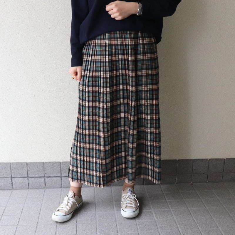 【 innowave | イノウェーブ 】 チェック柄プリーツスカート | 8590509