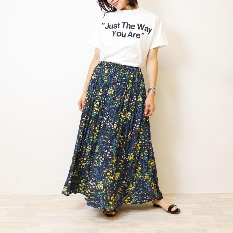 【 portcros | ポートクロス 】  フラワープリントマキシスカート | I-8427