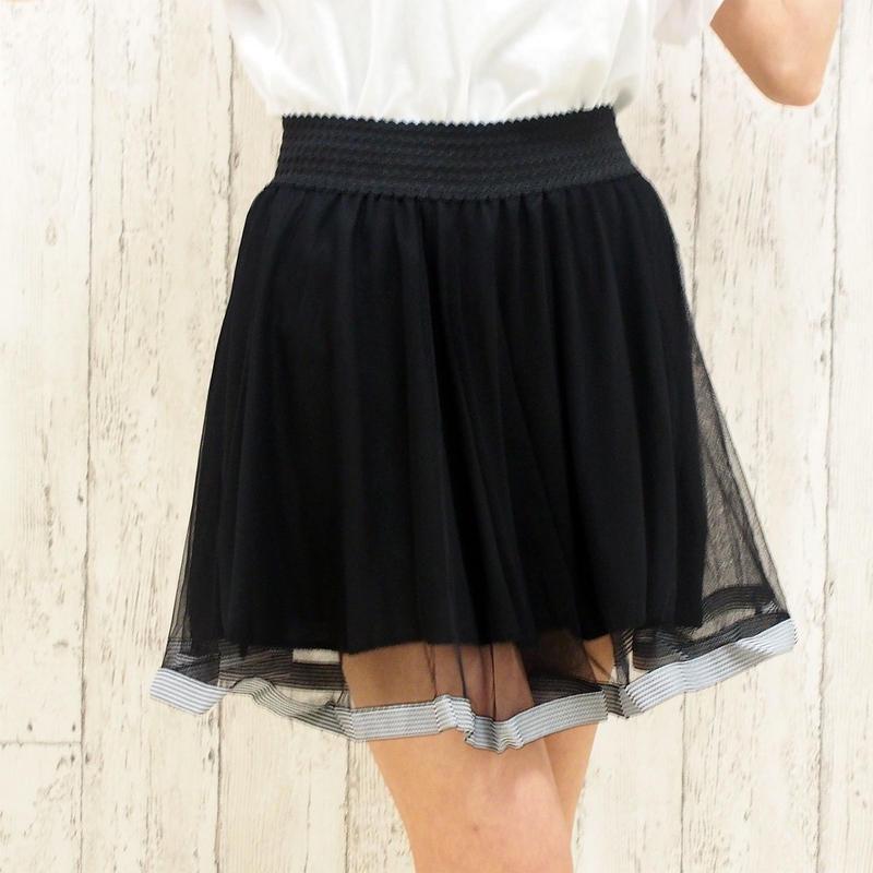 チュールラインスカート