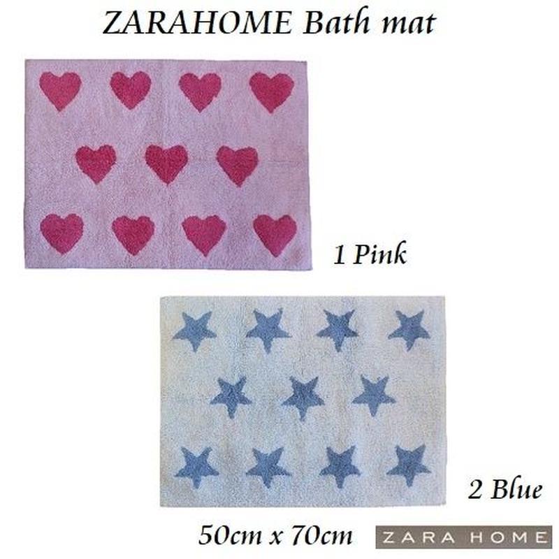【ZARAHOME】バスマット ミニマット  ピンク、ブルー