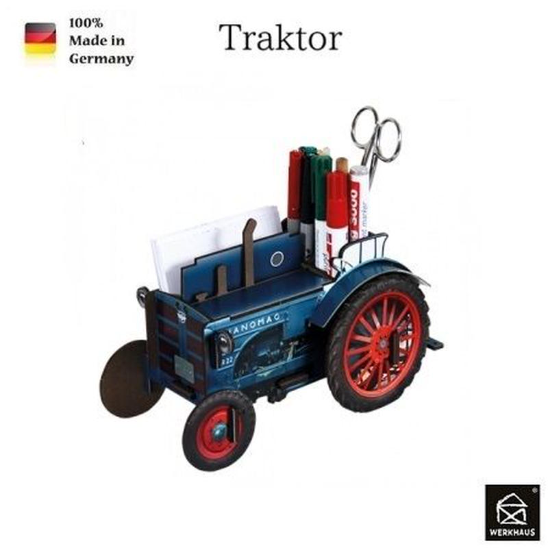 NEW☆ドイツ 【WERKHAUS(ヴェルクハウス)】組み立て式 ペンスタンド Traktor トラクター
