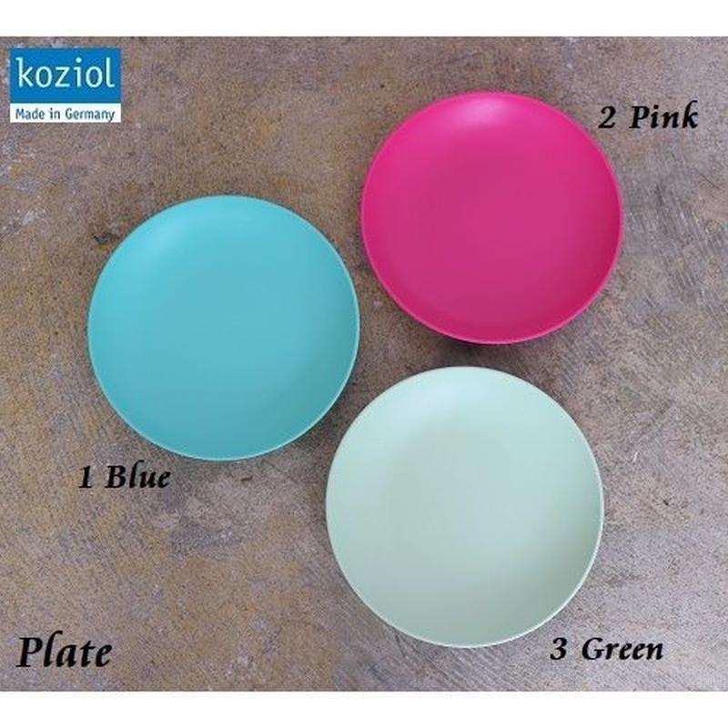 ドイツ【koziol コジオル】春色プレート お皿 ブルー、ピンク、グリーン