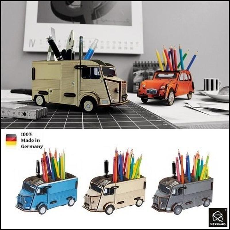 ドイツ WERKHAUS ペンスタンド シトロエン  トラック ブルー/クリーム/グレー