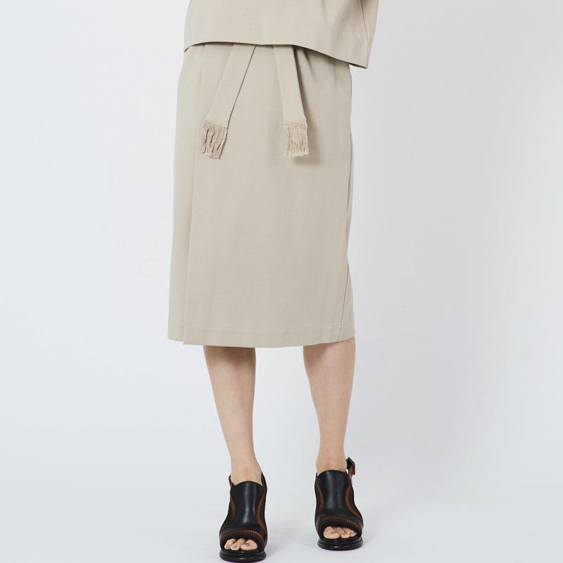 SMOOTH WRAP SKIRT  スムースラップスカート(BEIGE)