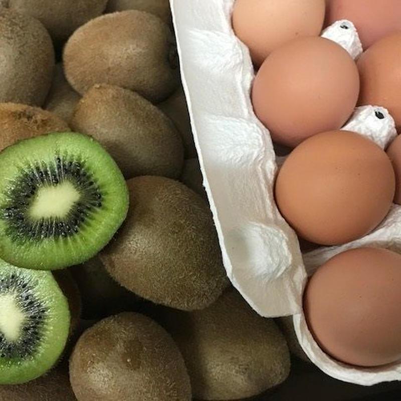 自然栽培キウイフルーツ&自然卵
