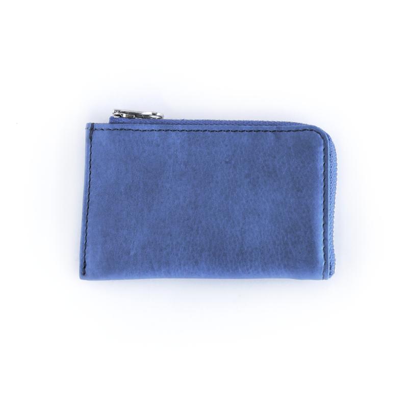 SUKUMO leather zipカードケース/縹