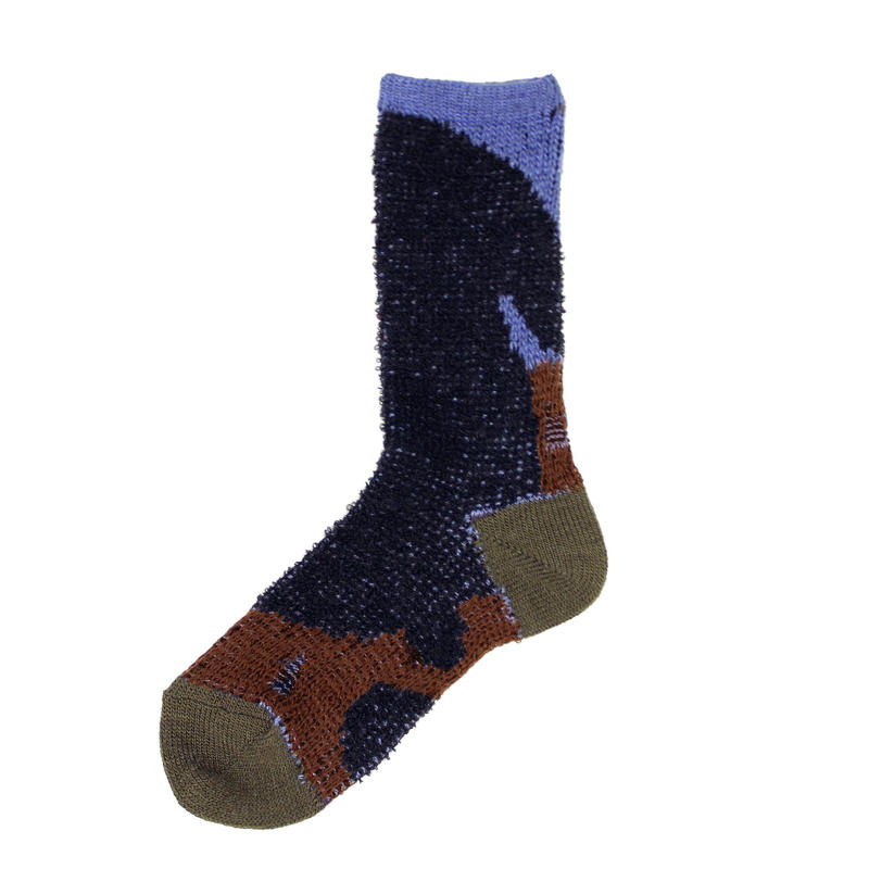 rabbit relax socks/ブラック