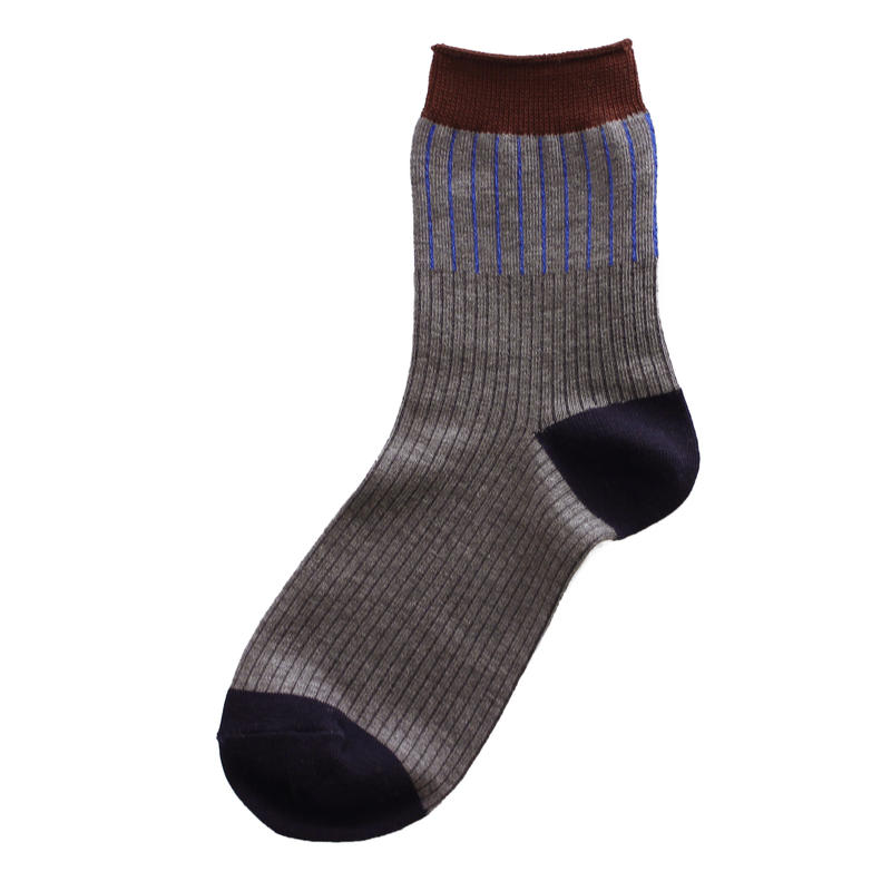Rib prism socks/ブラック