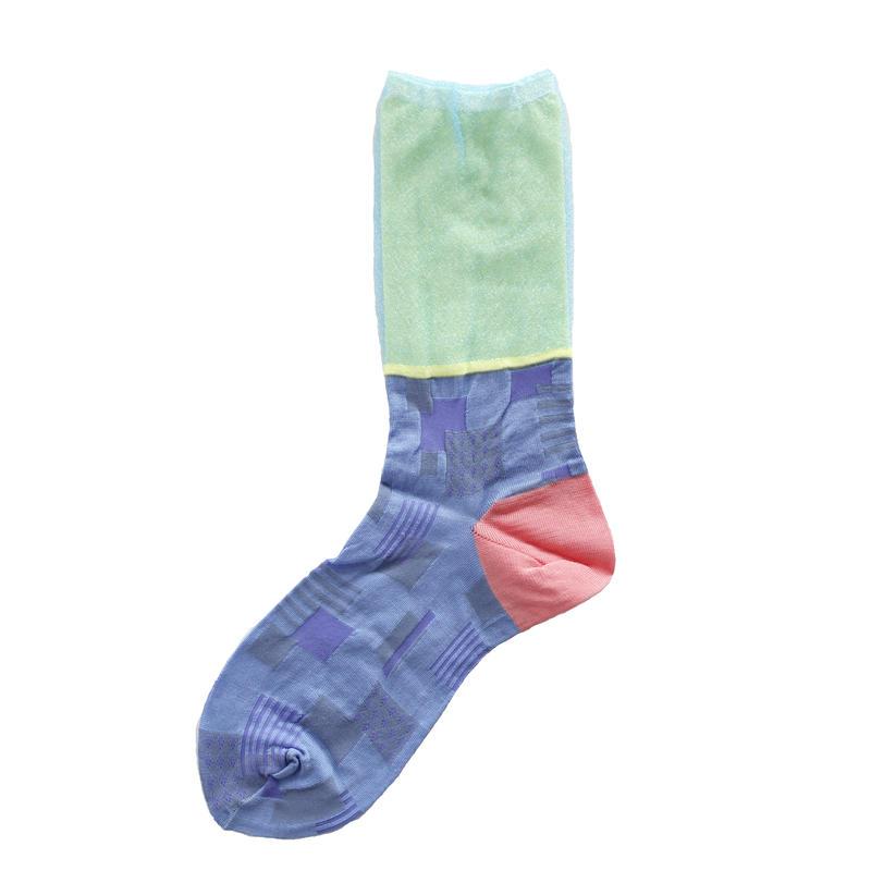 Sunlight block socks/ブルー
