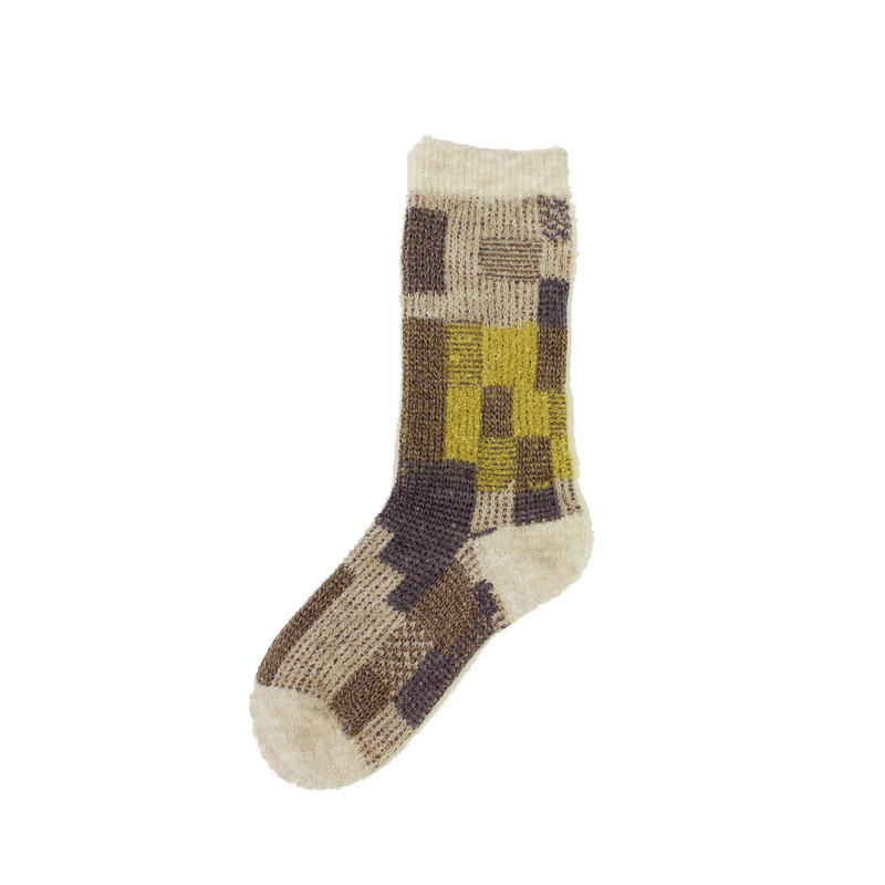 colorful gabbeh socks/ベージュ