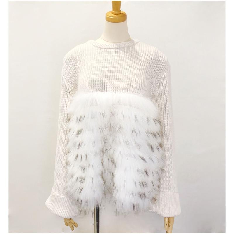 front fur  knitwear