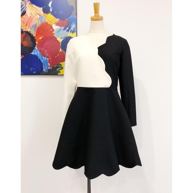 B品 bicolor dress