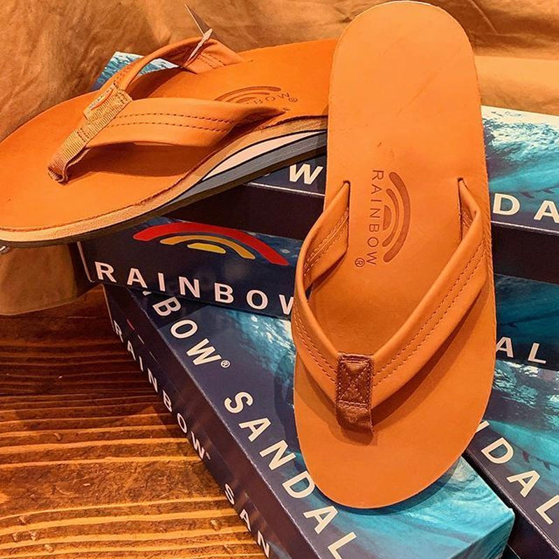 """RAINBOW SANDALS""  Classic Leather(Double Layer)Sandal"