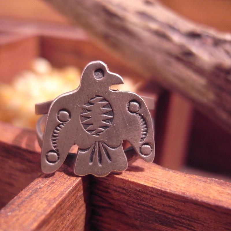 "Native American Jewelry ""Thunderbird"" Ring"